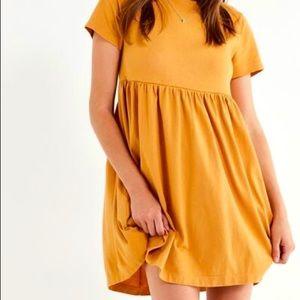 Urban Outfitters Mustard Yellow Babydoll Dress